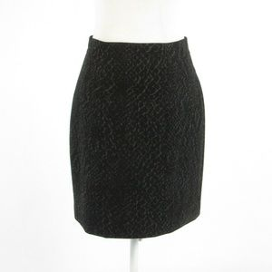 Tahari black snake pencil skirt 8